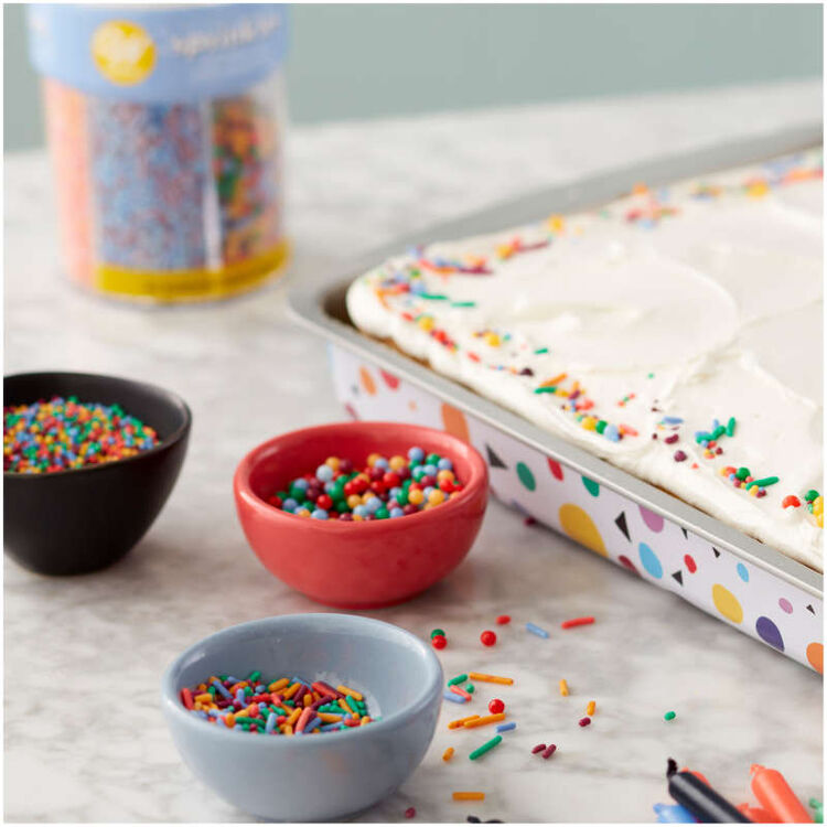 Sheet Cake with Bright Sprinkles