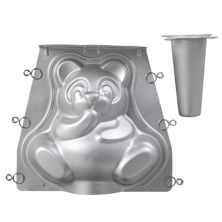 Teddy Bear 3D Cake Pan Set, 2-Piece