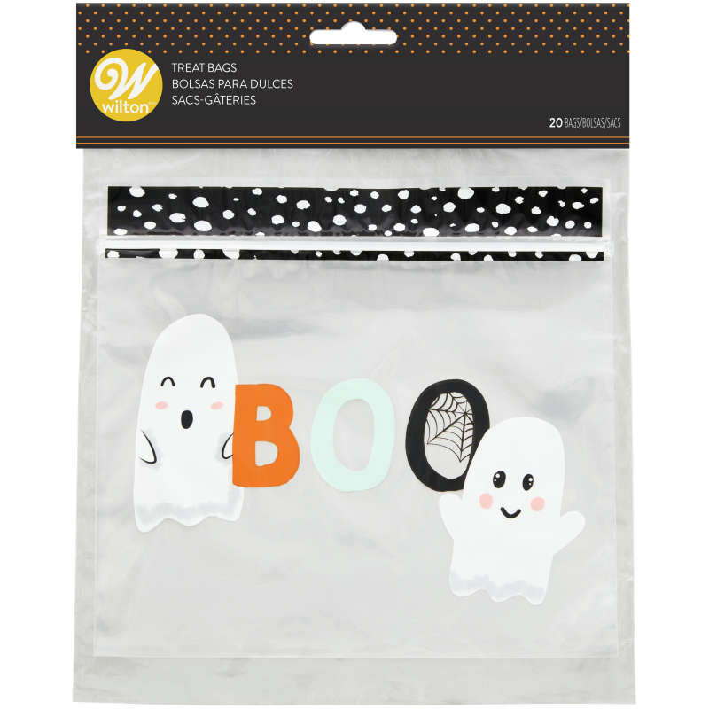 Whimsical Ghost Resealable Halloween Treat Bags, 20-Count image number 0