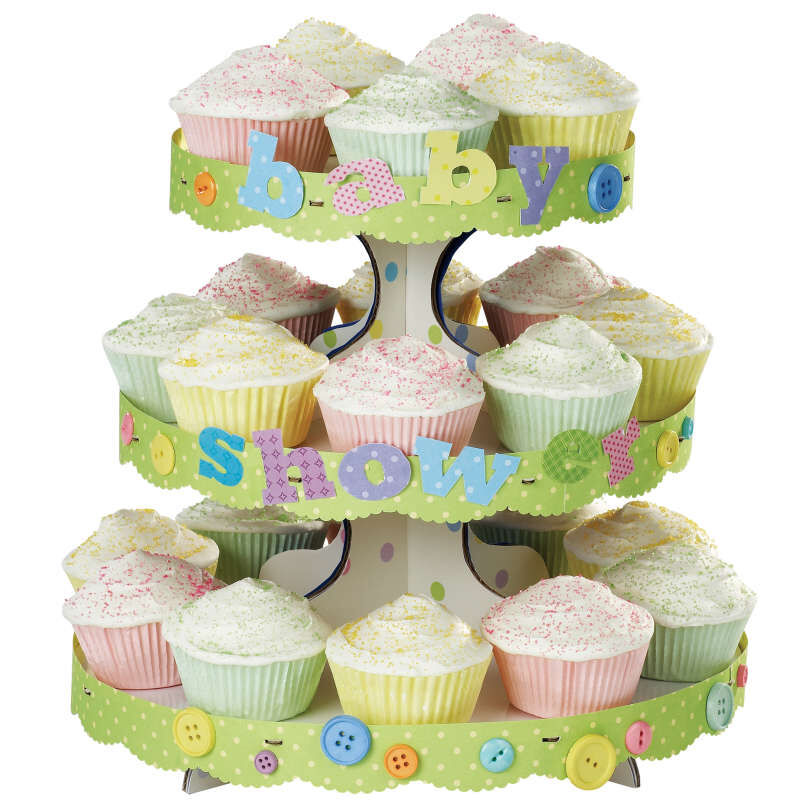 3-Tier Cupcake Stand, White image number 2