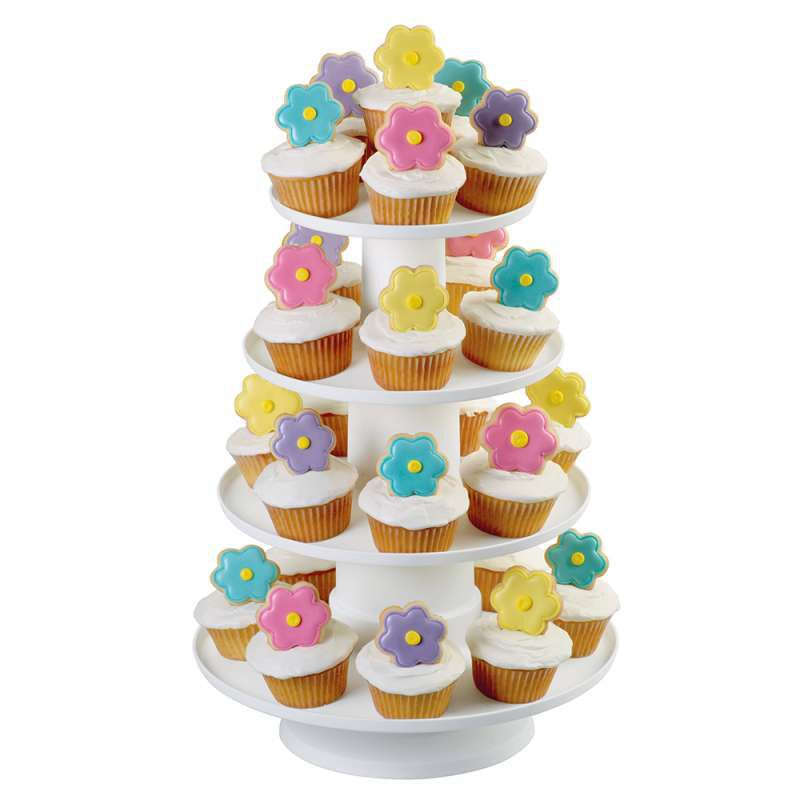 Stacked 4-Tier Cupcake and Dessert Tower image number 3