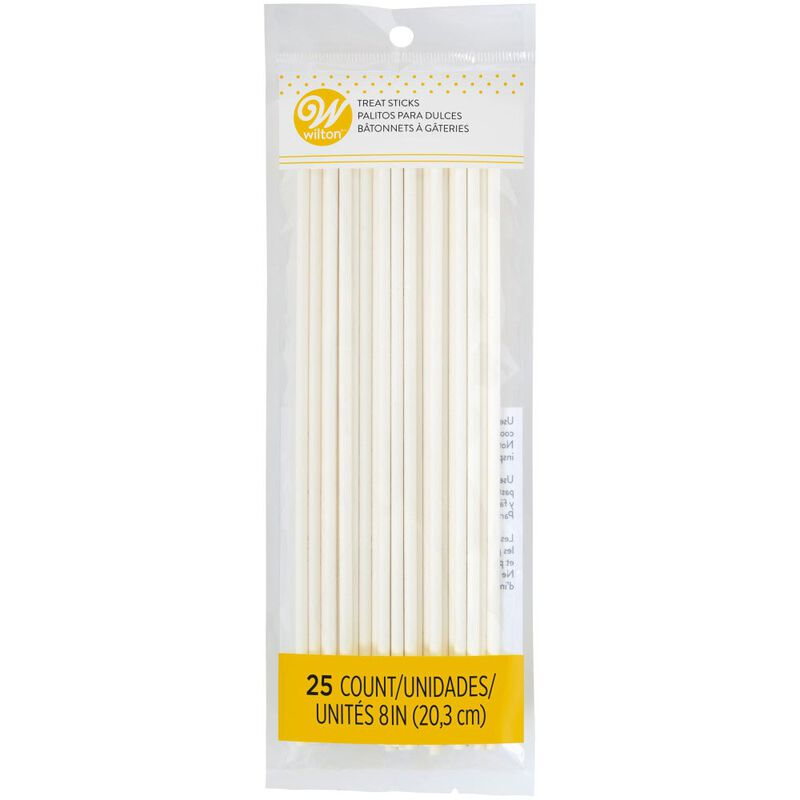 8-Inch White Treat Sticks, 25-Count image number 0