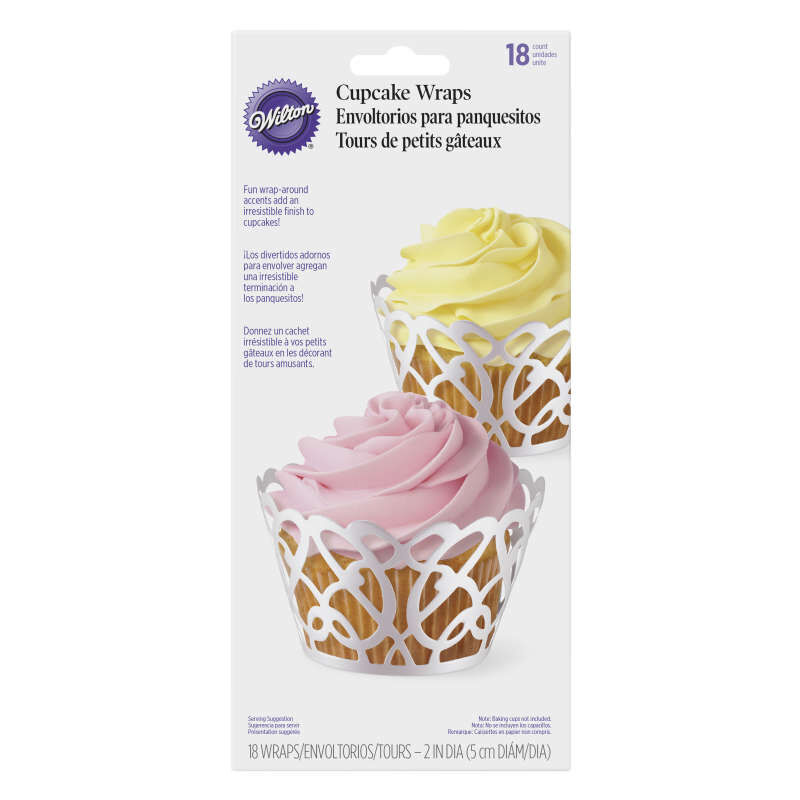 Pearl Swirl Cupcake Wraps, 18-Count image number 0