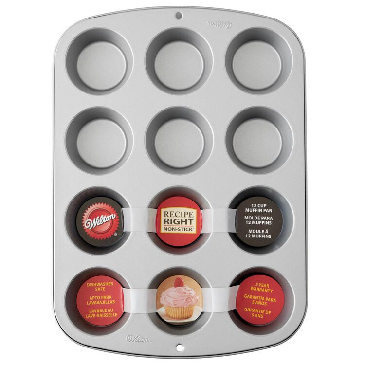 Recipe Right Muffin Pan, 12-Cup Non-Stick Muffin Pan
