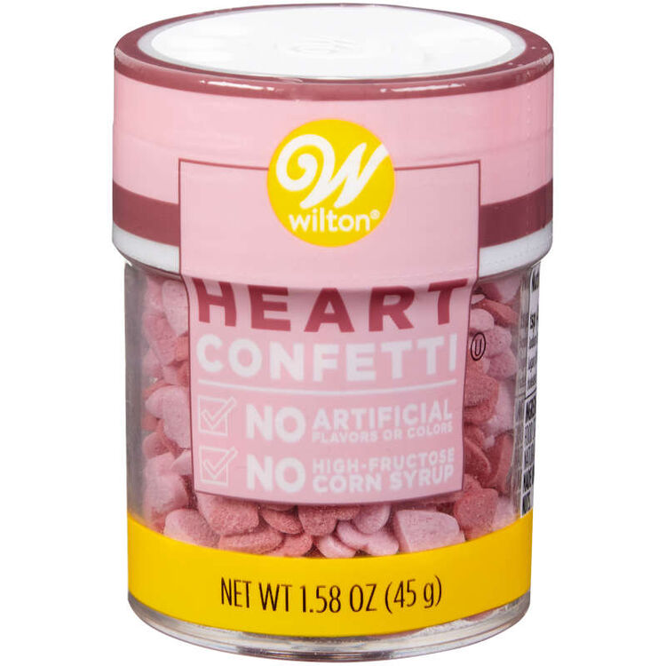Naturally Flavored Heart Confetti Sprinkles, 1.58 oz.
