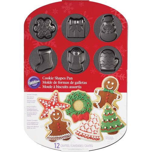 Images. Christmas Cookie Shapes Pan
