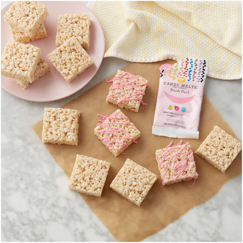 Bright Pink Candy Melts Drizzle Pouch 2 oz image number 3
