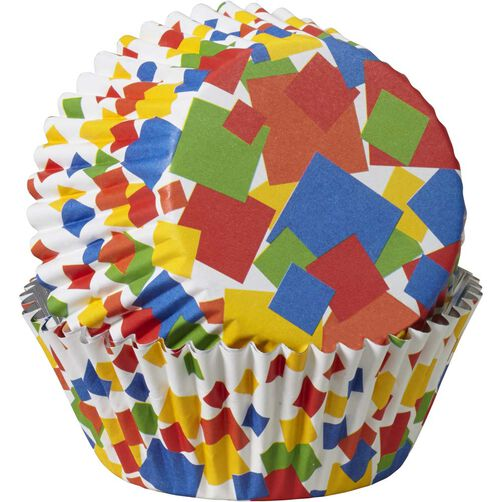 ColorCups Confetti Squares Cupcake Liners