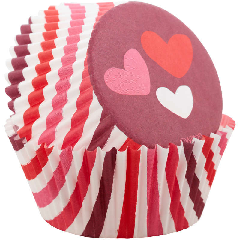 Stripes and Hearts Cupcake Liners, 75-Count image number 2