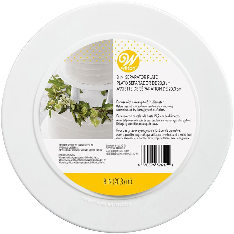 """Decorator Preferred 8"""" Smooth Edge Plate image number 0"""