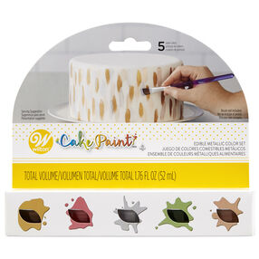 Edible Metallic Cake Paint Set, 5-Piece