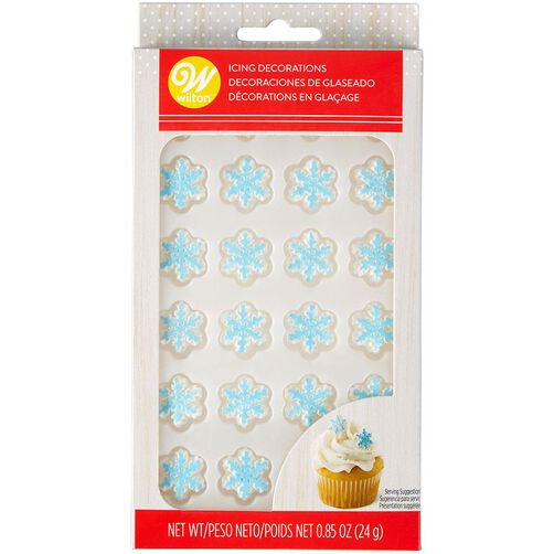 Mini Snowflake Icing Decorations, 24-Count