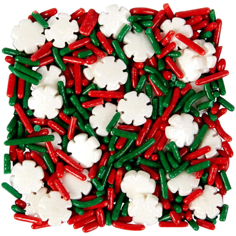Snowflake Sprinkles Mix, 4.16 oz. image number 0