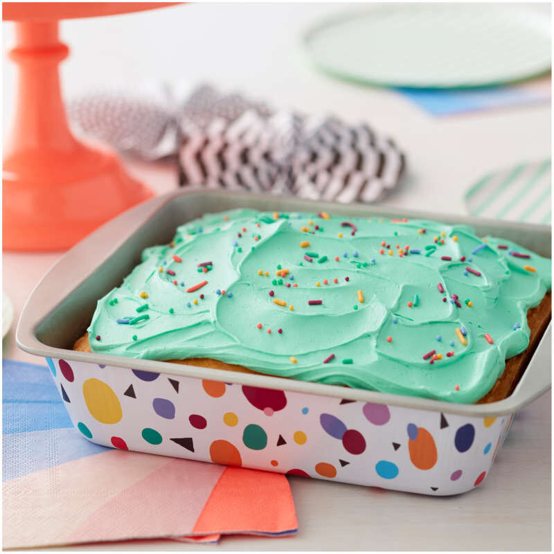 Bake and Bring Geometric Print Non-Stick 8-Inch Square Cake Pan image number 4