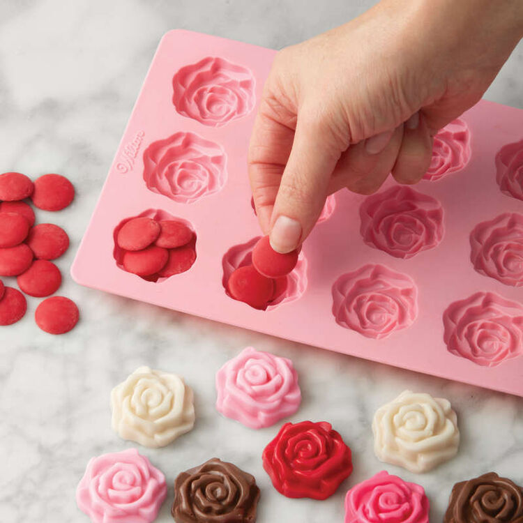 Rose Candy Mold In Use