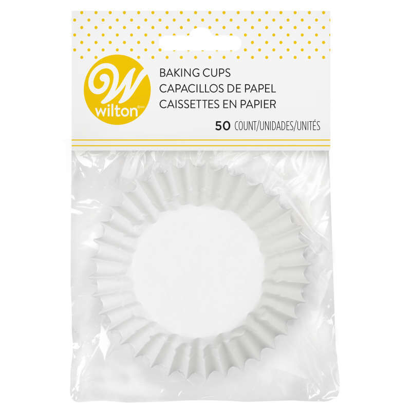 Jumbo White Cupcake Liners, 50-Count image number 0