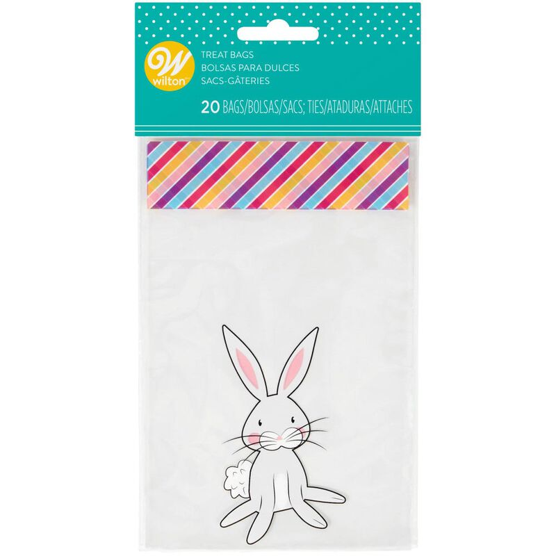 Easter Bunny Mini Treat Bags, 20-Count image number 1