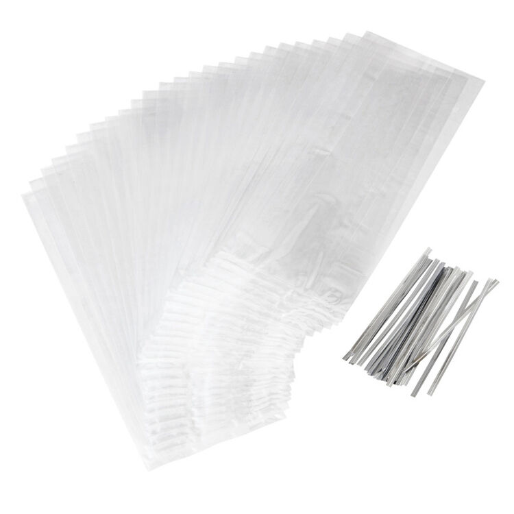 Clear Tall Treat Bags, 50-Count