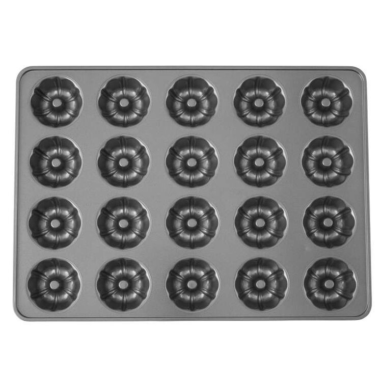 Perfect Results Premium Non-Stick Bakeware Mini Fluted Tube Pan, 20-Cavity