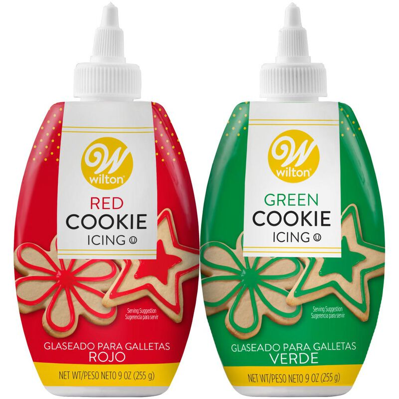 Red and Green Cookie Icing Set, 2-Count image number 0