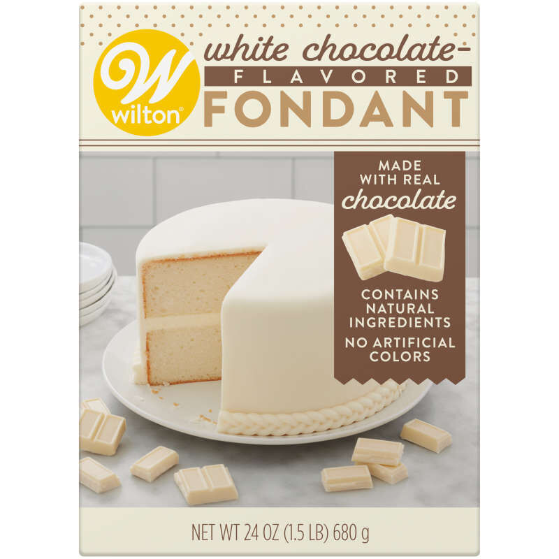 White Chocolate-Flavored Fondant for Cake Decorating, 24 oz. image number 0