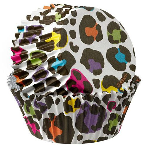 ColorCups Colorful Leopard Cupcake Liners