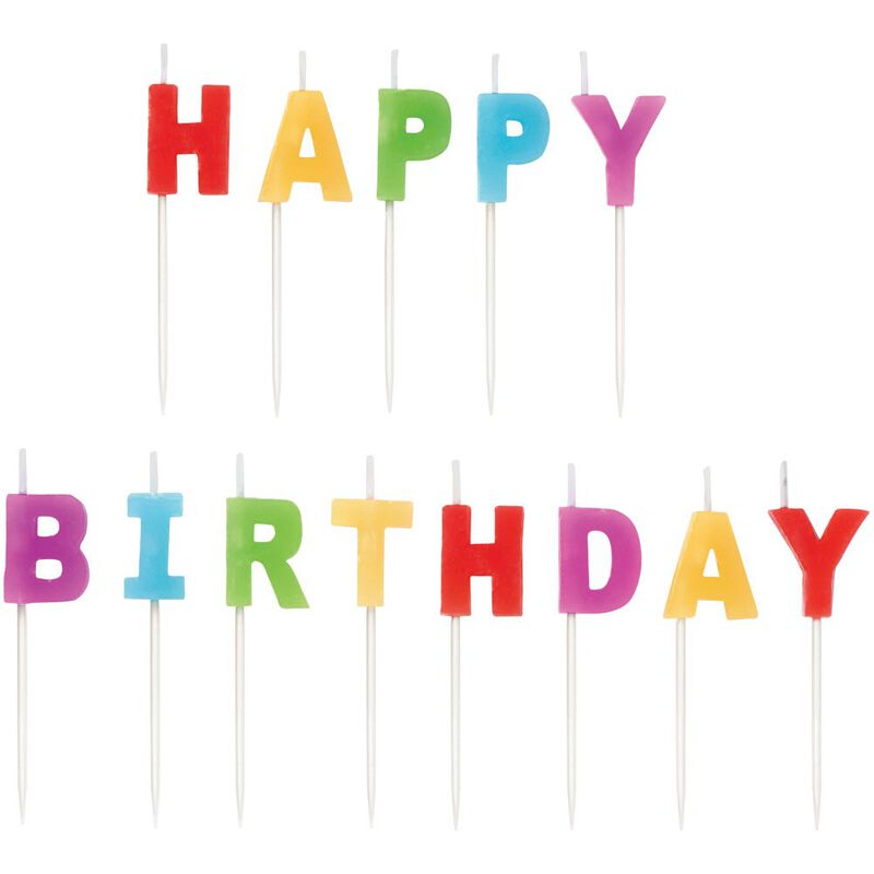 Happy Birthday Candle Pick Set, 13-Count image number 0