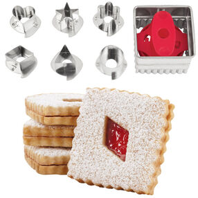 Square Linzer Cookie Cutter Set