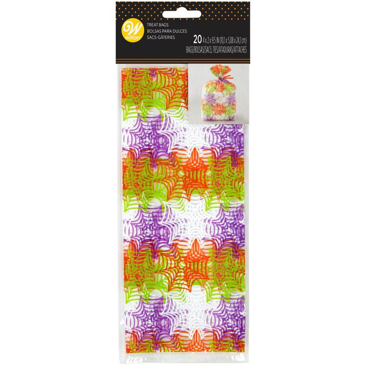 Spider Web Treat Bags, 20-Count
