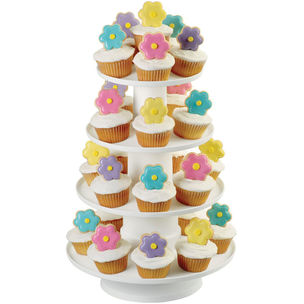 sc 1 st  Wilton & Stacked 4-Tier Cupcake and Dessert Tower | Wilton