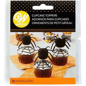 Spider Cupcake Toppers, 12-Count