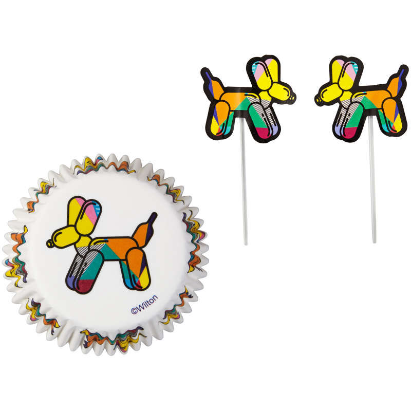 Balloon Dogs Cupcake Kit, 24-Count image number 0