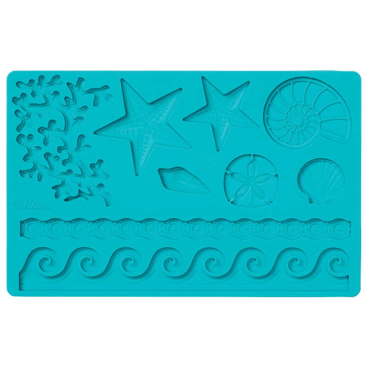 Silicone Sea Life Fondant and Gum Paste Mold - Cake Decorating Supplies