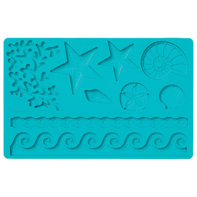 Silicone Sea Life Fondant and Gum Paste Mold - Cake Decorating Supplies image number 0
