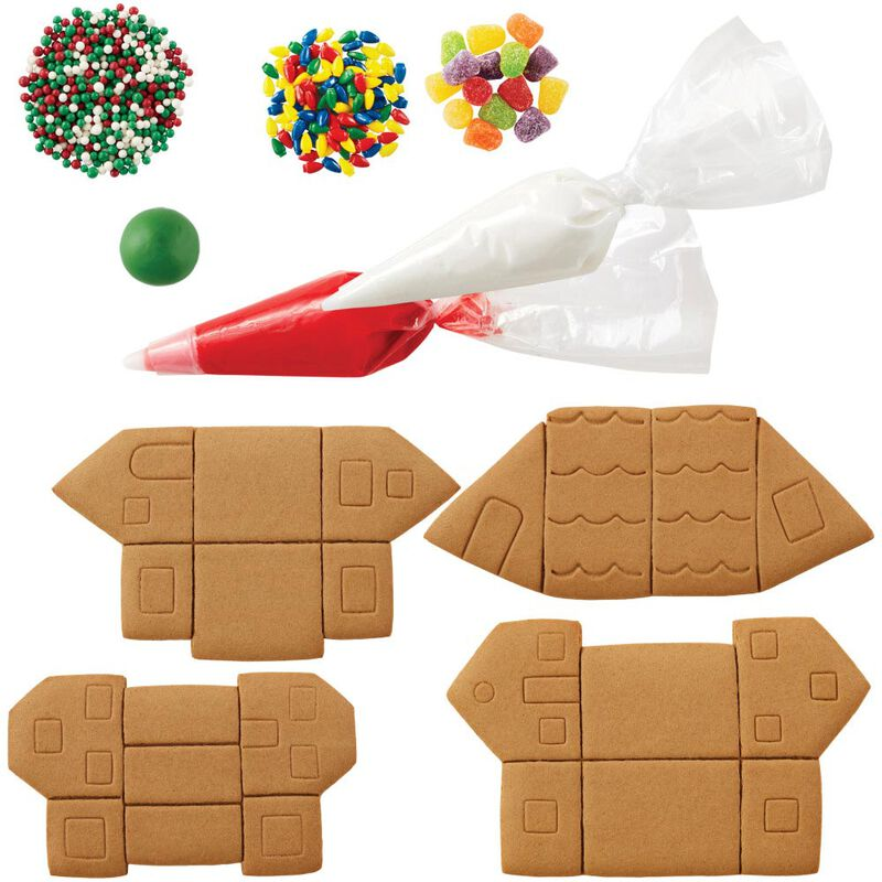 Build it Yourself Welcome to Christmas Mini Village Gingerbread Decorating Kit image number 2