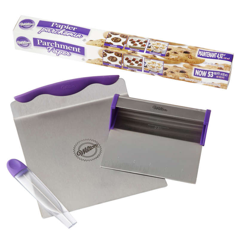 Cake Baking Tools and Parchment Paper Set - Baker's Blade, 8-Inch Cake Lifter, Cake Tester, 53 sq. ft. Parchment Paper image number 0