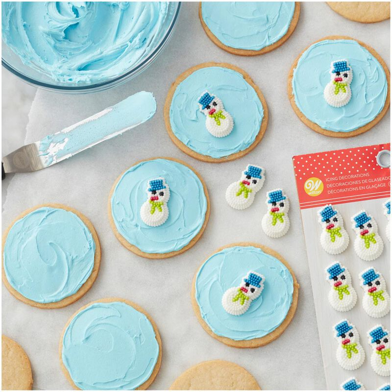 Mini Snowman Icing Decorations, 20-Count image number 3