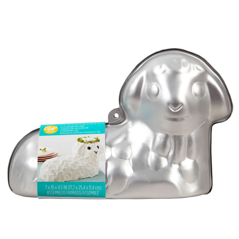 3-D Stand-Up Lamb Cake Pan Set, 2-Piece image number 0