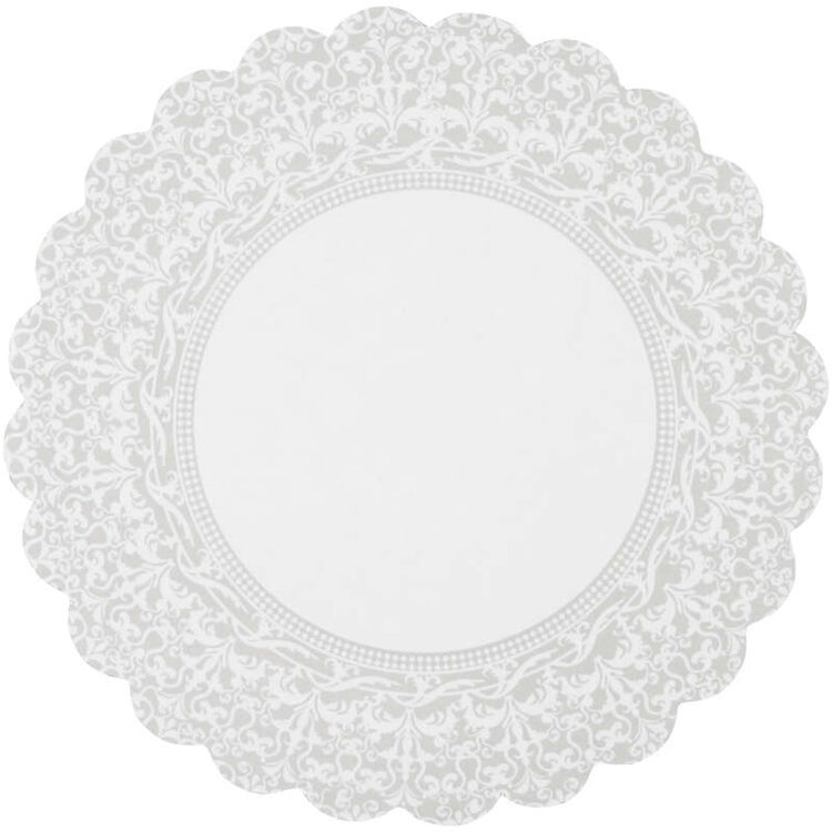 Scalloped Lace Cake Circles Out of Packaging