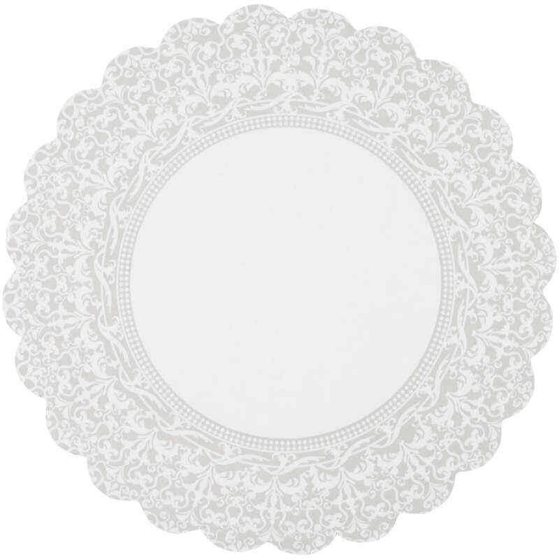Scalloped Lace Cake Circles Out of Packaging image number 0