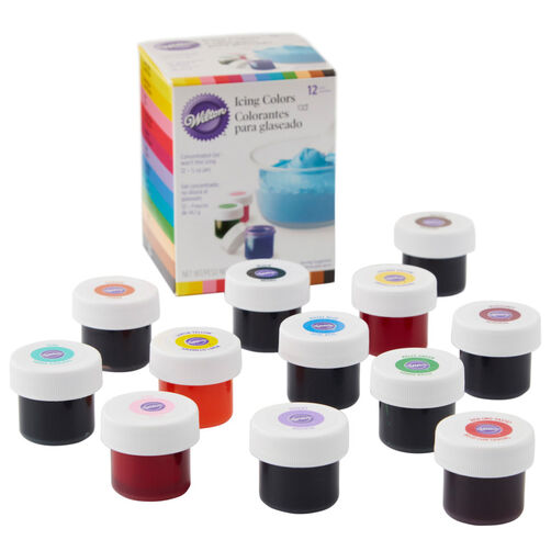 Gel Icing Colors, 12-Count