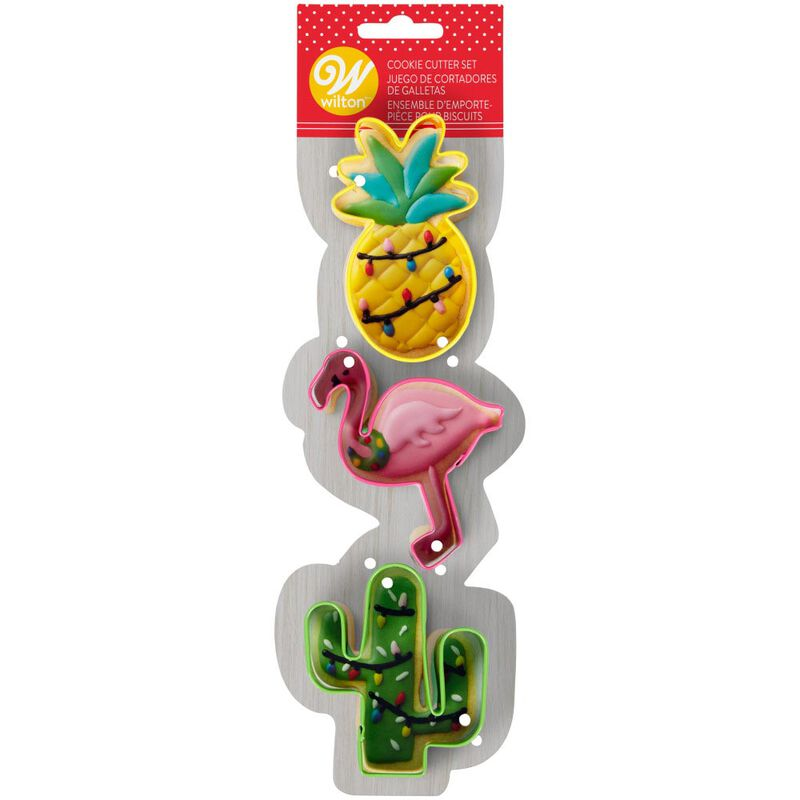 Tropical Christmas Cookie Cutter Set, 3-Piece image number 1