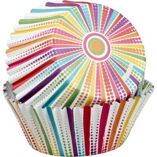 Dotted Line Striped Cupcake Liners