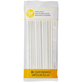 White Lollipop Sticks, 6-Inch