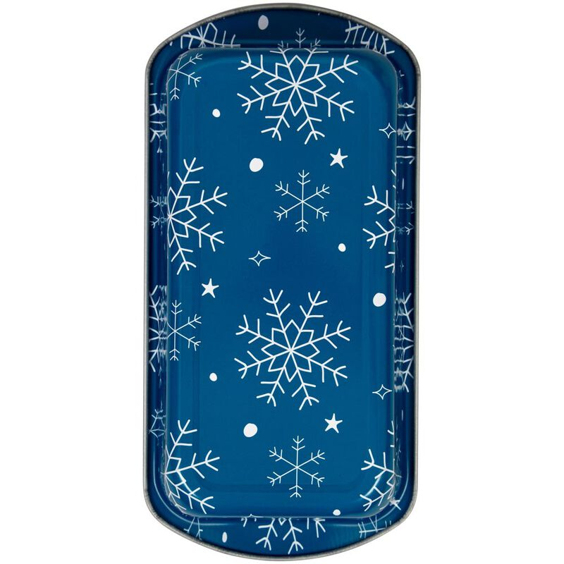 Bake and Bring Snowflake Print Non-Stick Loaf Pans, 2-Count image number 2