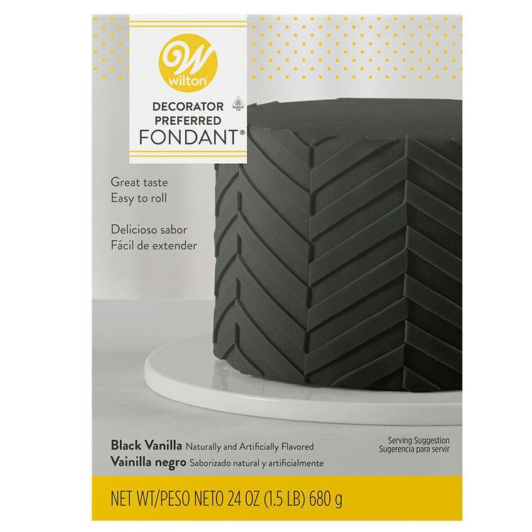 Decorator Preferred Black Fondant, 24 oz. Fondant Icing