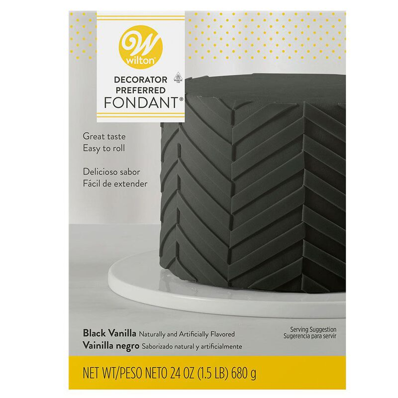 Decorator Preferred Black Fondant, 24 oz. Fondant Icing image number 0