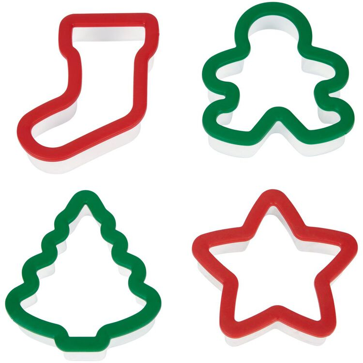 Holiday Grippy Cookie Cutters, 4-Piece