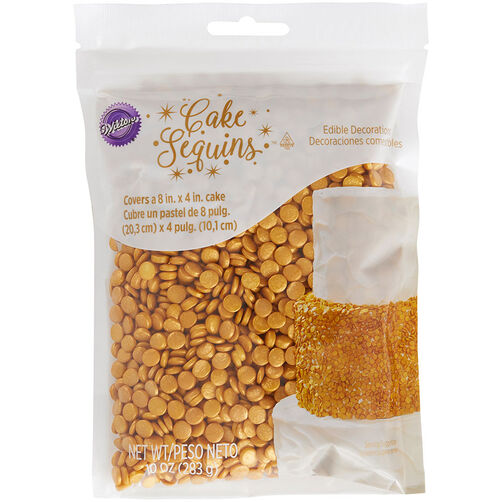 Gold Cake Sequins, 10 oz