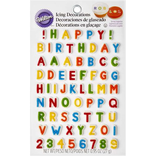 Letters Numbers Edible Icing Decorations